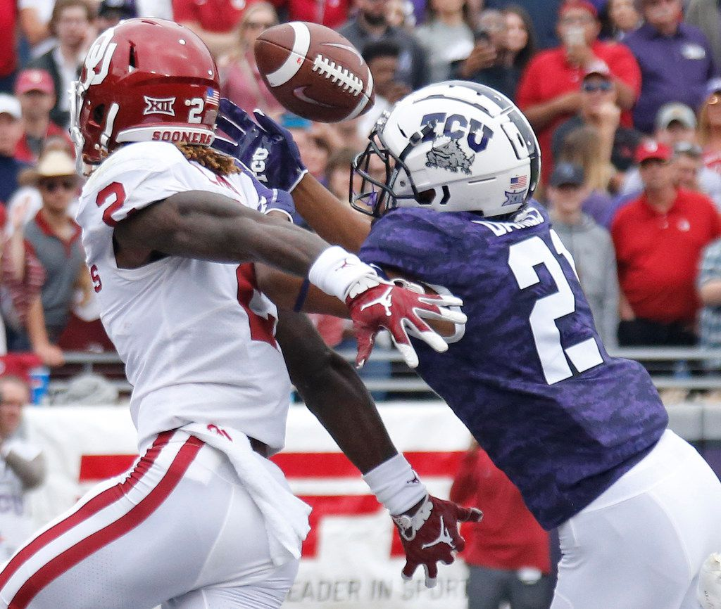 TCU Horned Frogs cornerback Noah Daniels (21) missed all of last year with an injury, but he's expected to make a splash in the starting lineup this season. (Louis DeLuca/The Dallas Morning News)