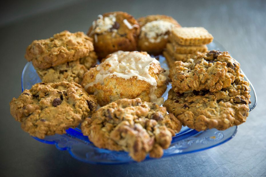 Goods made by Jill Marks, owner of Cookies Crumbs and Crust, Tuesday, November 29, 2016 in Irving, Texas. Marks started the pastry business five years ago after being a stay-at-home mom and raising four children in Southlake, Texas. (G.J. McCarthy/The Dallas Morning News)