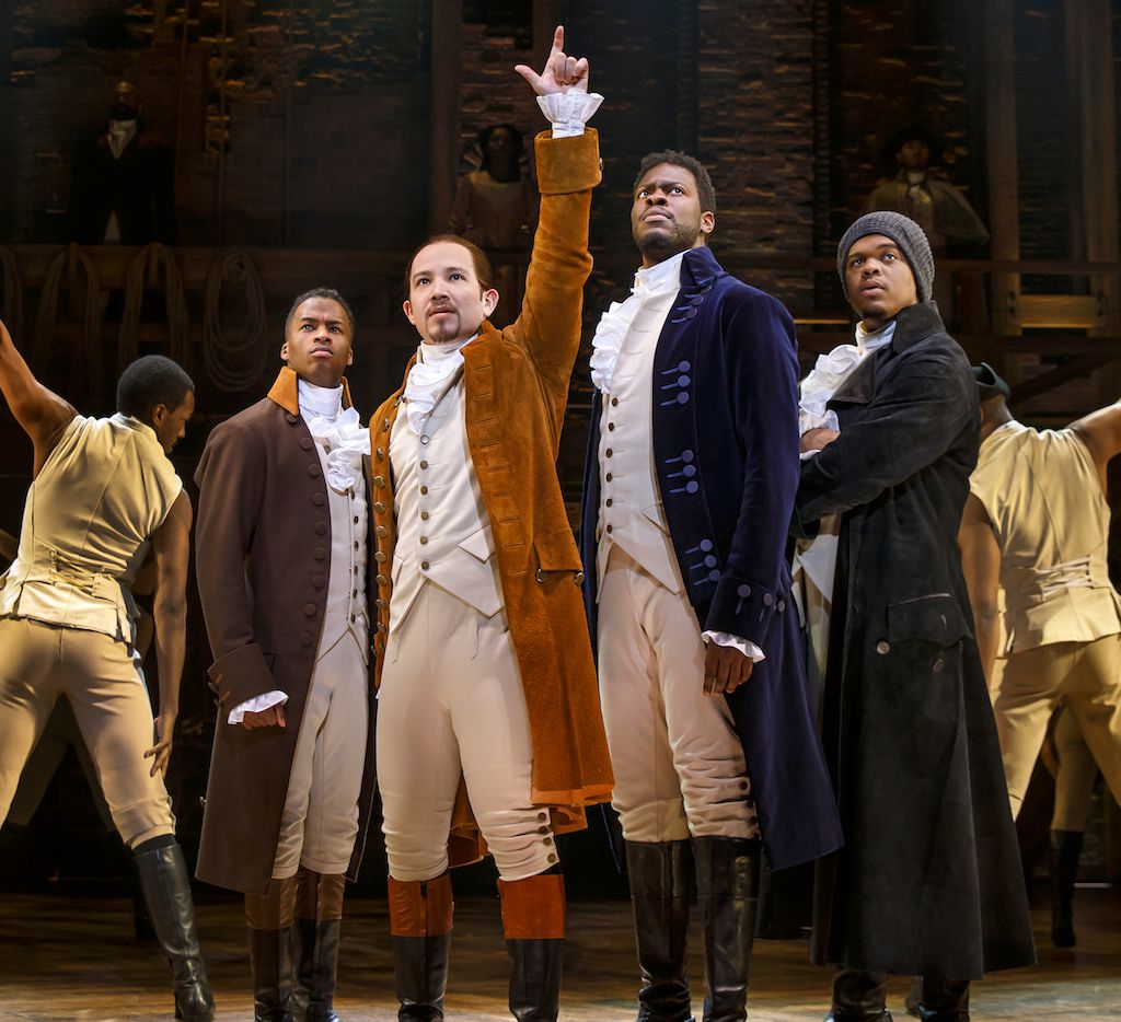 Elijah Malcomb, Joseph Morales, Kyle Scatliffe and Fergie L. Philippe are in the national tour of 'Hamilton,' coming to Dallas.