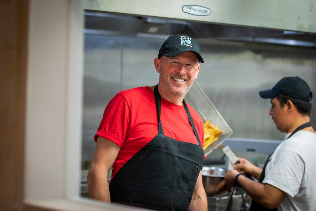 Nick Barclay, who is British, is chef and owner with his Texan wife, Kelli Barclay, at Fish & Fizz.