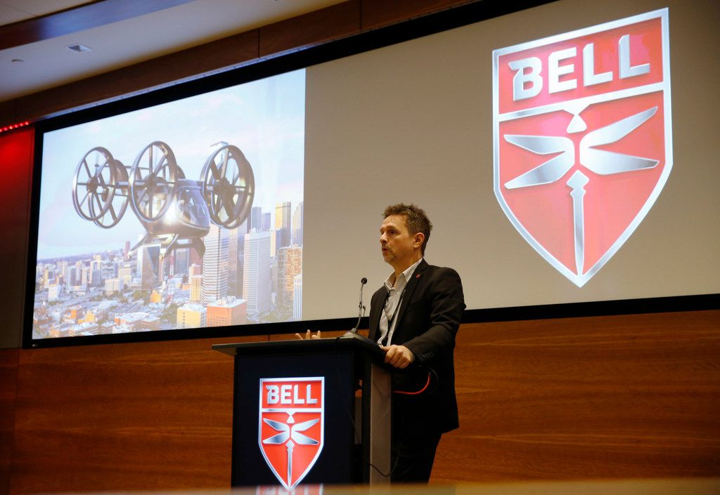 Scott Drennan, vice president of Innovation, talks about Bell Nexus, the air taxi that Bell is developing at the company's Fort Worth headquarters.