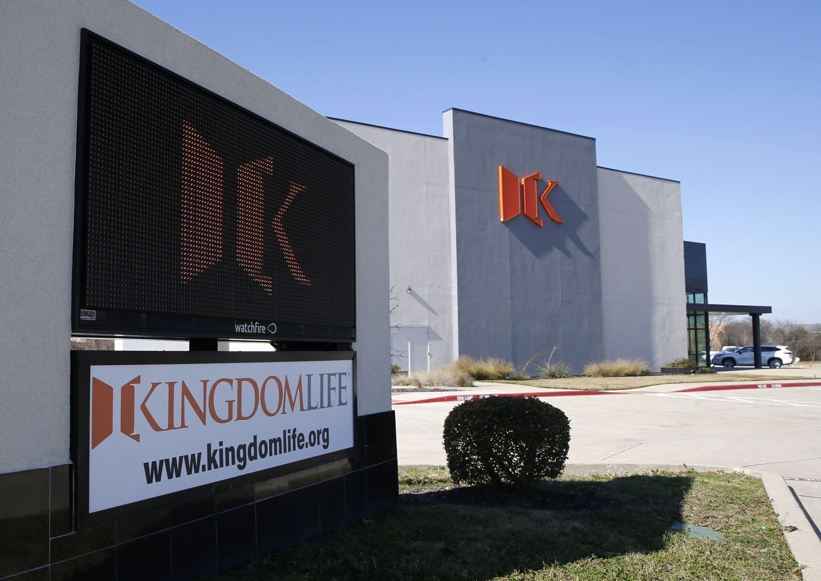 Exterior of KingdomLife church on Tuesday, January 26, 2021in Frisco, Texas.  (Vernon Bryant/The Dallas Morning News)