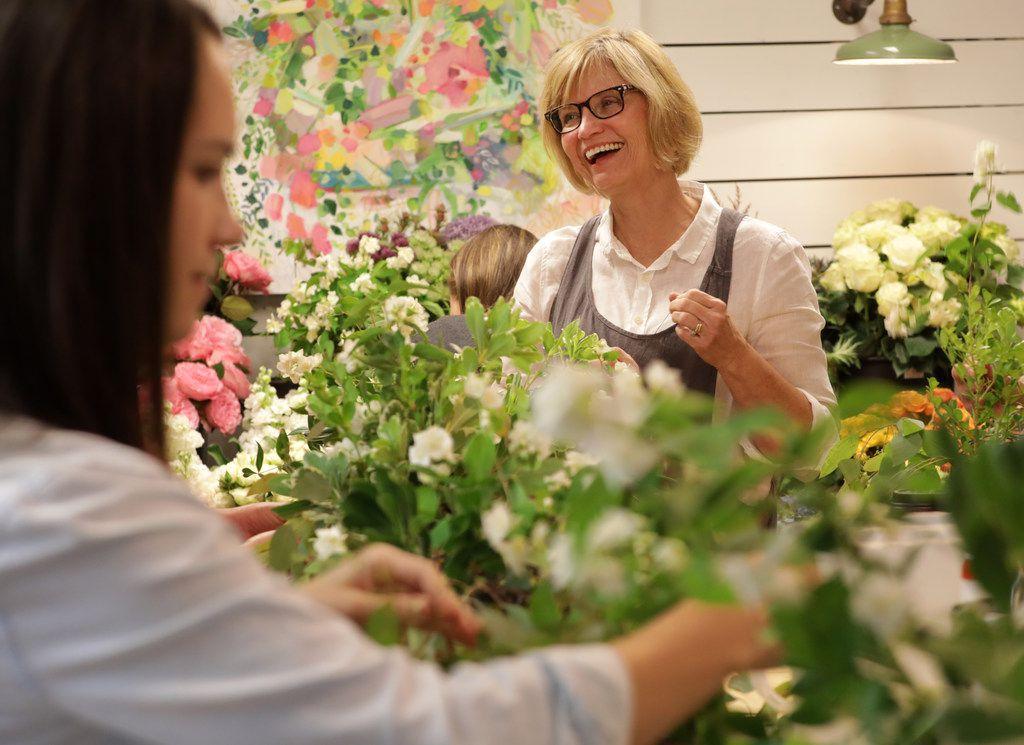 Thistle Floral Design owner Jan Barstad holds a workshop at her home studio in McKinney.