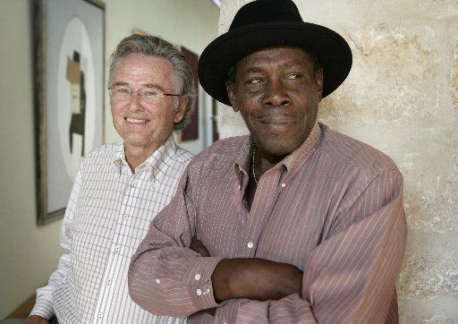 Ron Hall, left, and Denver Moore, authors of  Same Kind of Different As Me,  in 2009.  (Evans Caglage/Staff Photographer)