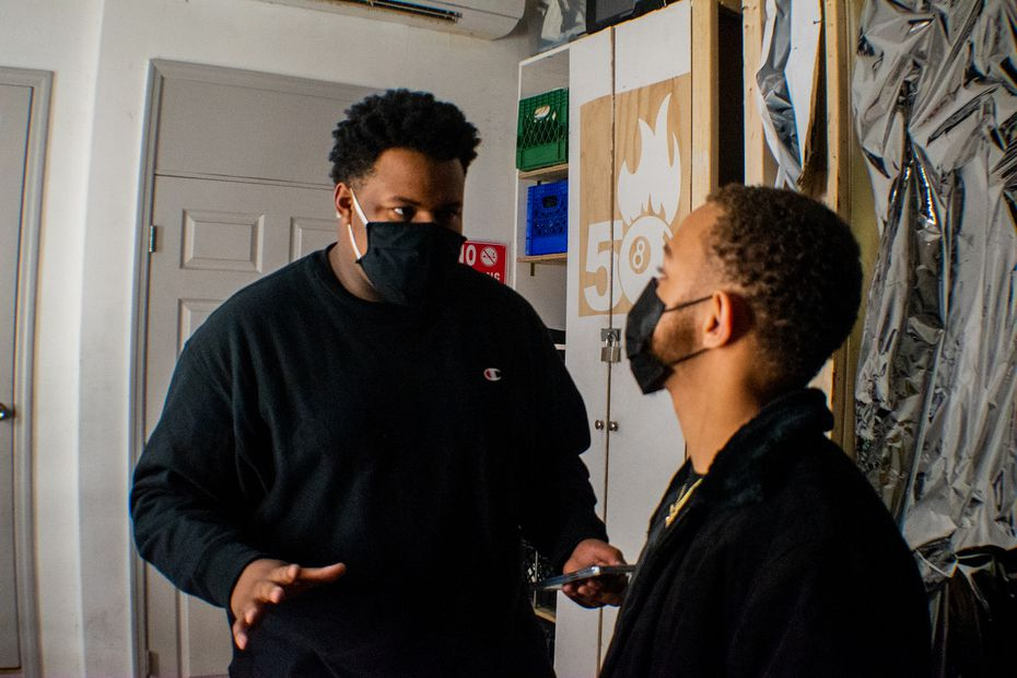 """Darnell Robinson (left) a producer of """"Smile,"""" joined the crew after summer 2020."""