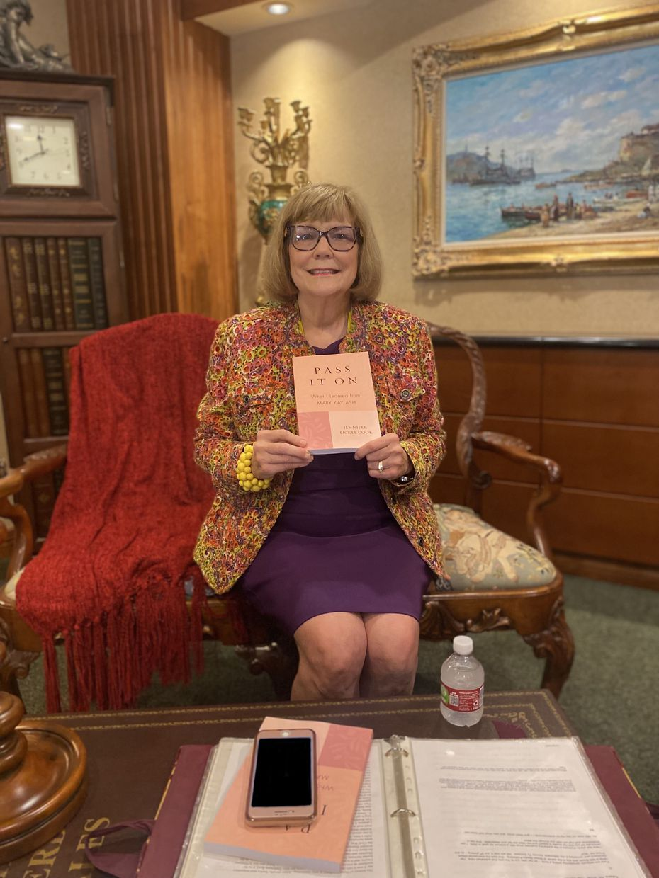 Jennifer Bickel Cook began working for Mary Kay in 1971 and worked directly with founder Mary Kay Ash for 25 years, including as manager of her personal staff.