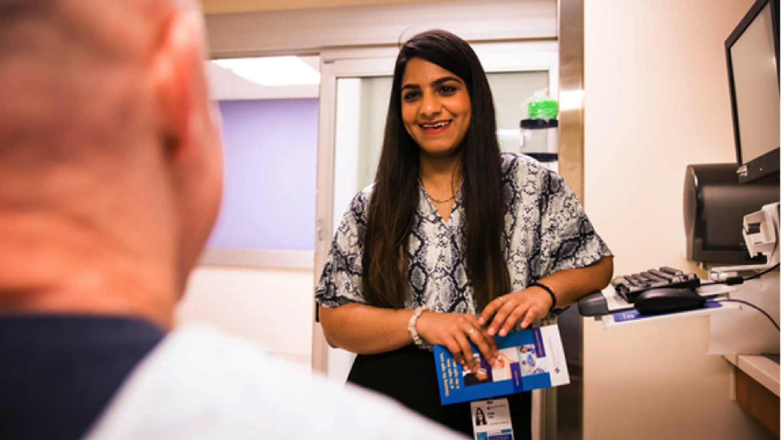 University of Texas at Dallas student Sana Iqbal participated in Baylor Scott & White Health's Community Advocates Program, which connects hospital patients from underserved communities with much-needed social services.