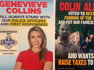 Democratic Rep. Colin Allred, D-Dallas, accused his GOP challenger of darkening his skin in a mailer sent to voters.