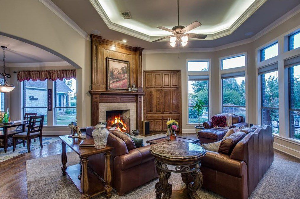 The estate has five bedrooms and four baths.