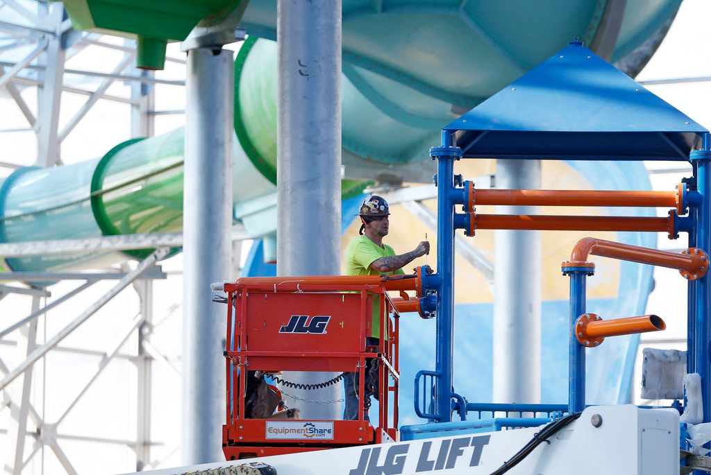 Construction continues at Epic Waters Indoor Waterpark in Grand Prairie on Tuesday, October 3, 2017. The park is still under construction and scheduled to open later this year. (Vernon Bryant/The Dallas Morning News)