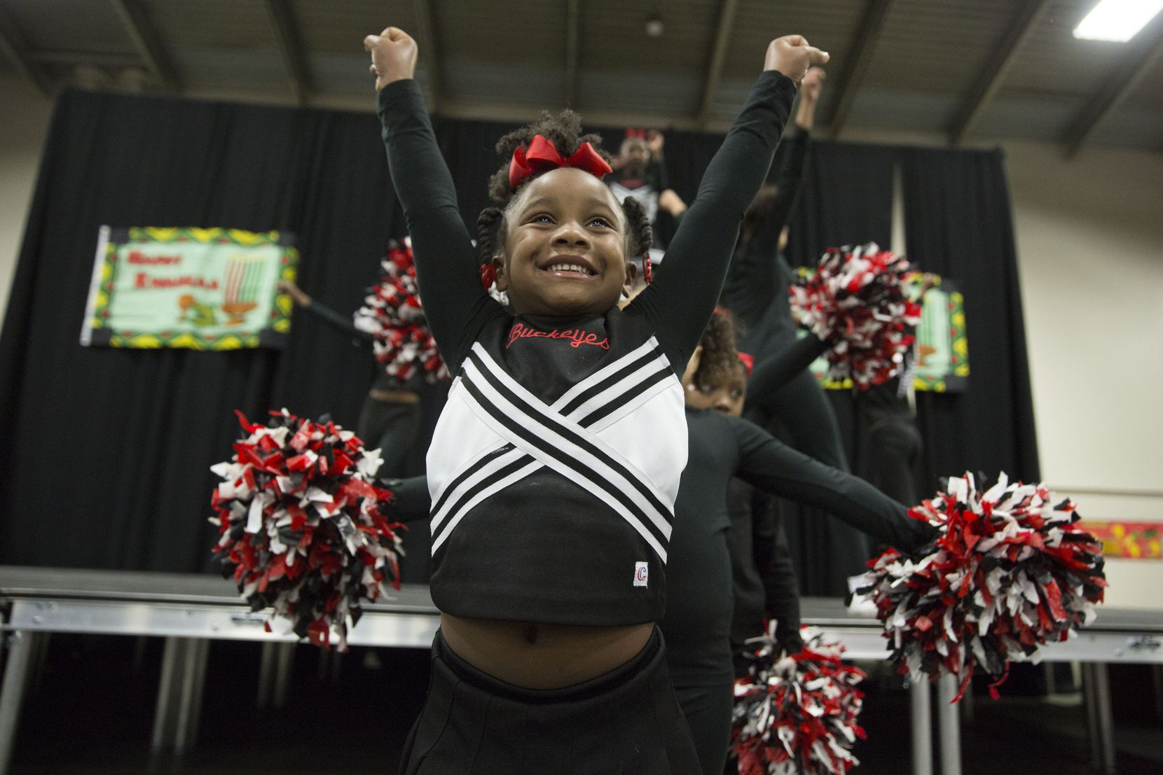 Cheerleaders perform at KwanzaaFest in 2017. This year, the two-day cultural festival will be held Dec. 14-15 in Fair Park.