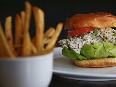 A chicken salad sandwich at Local restaurant in Deep Ellum