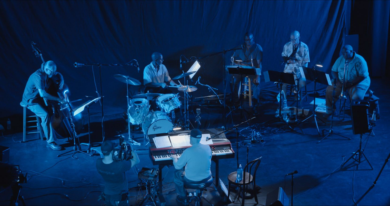"""Dave Zoller and his six-member band, Daybreak Express, perform and record his arrangements of 10 songs by Ellington and Strayhorn before an empty Texas Theatre. Zoller's son directed the filming of each piece, creating what he describes as """"a concert movie."""""""