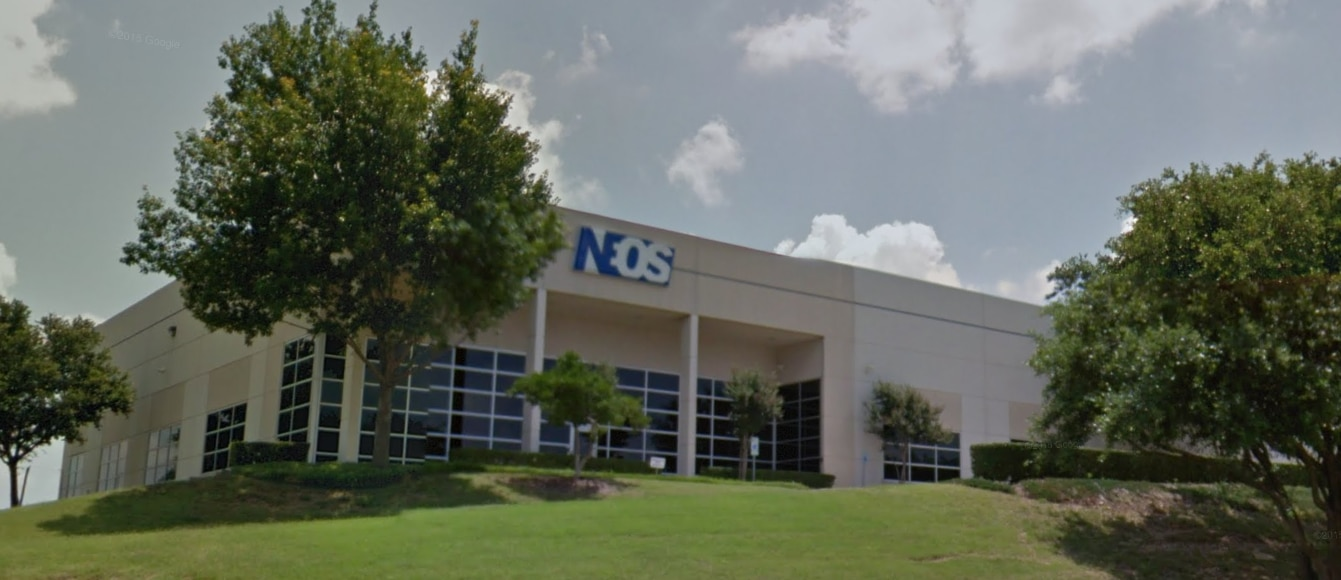 Pharmaceutical company Neos Therapeutics' 80,000-square-foot facility in Grand Prairie.