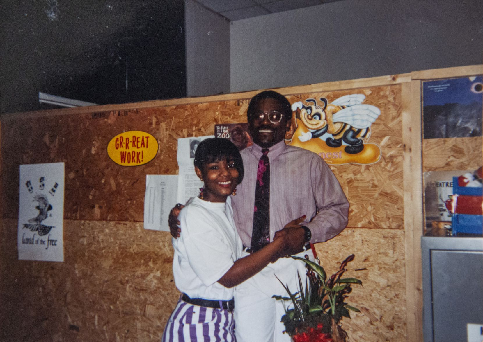 Renee Phillips, shown with Pastor Rickie Rush in an undated photo, was in Rush's theater arts class as a sophomore at Skyline High School in 1991-92.