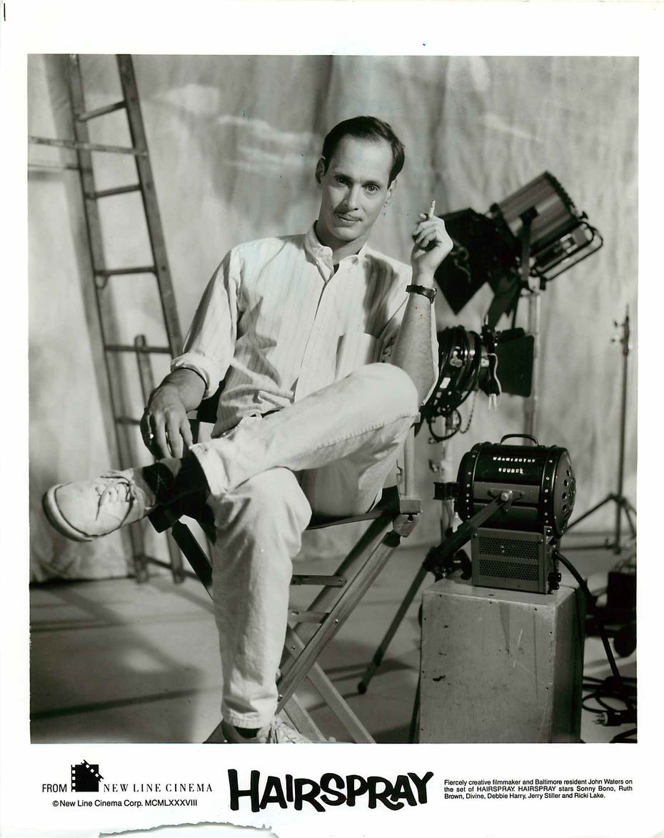 """John Waters, pictured in a publicity photo for the 1988 movie """"Hairspray."""""""