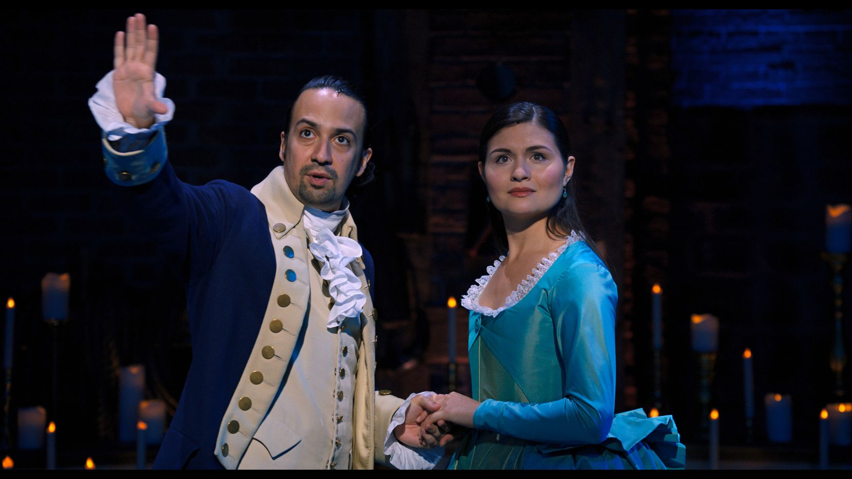 "Lin-Manuel Miranda and Phillipa Soo star in ""Hamilton,"" the hit Broadway musical that came to our TV screens on Disney+ on the Fourth of July."