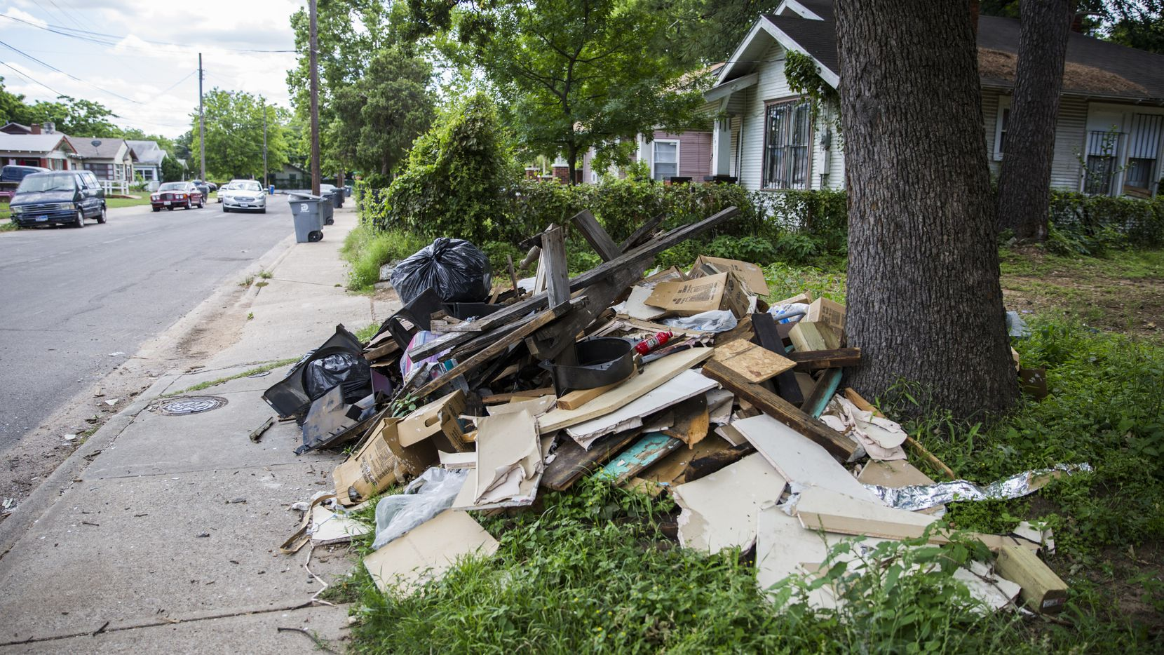 In Dallas, sometimes it's difficult to determine where bulk trash ends and illegal dumping begins.