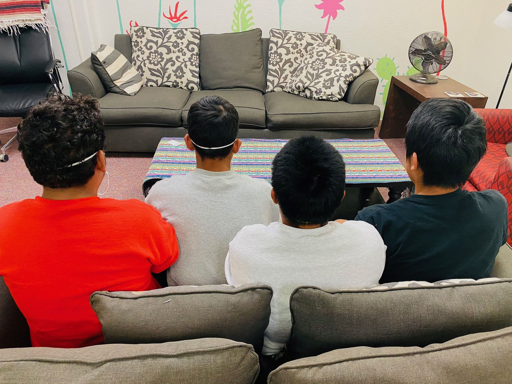 Four Guatemalans who celebrated an 18th birthday on the same day, seen here May 28 at El Paso's Annunciation House, spoke of the conditions that forced them to flee their country and of what they hope the Biden administration can do to help stop the exodus of people headed north.