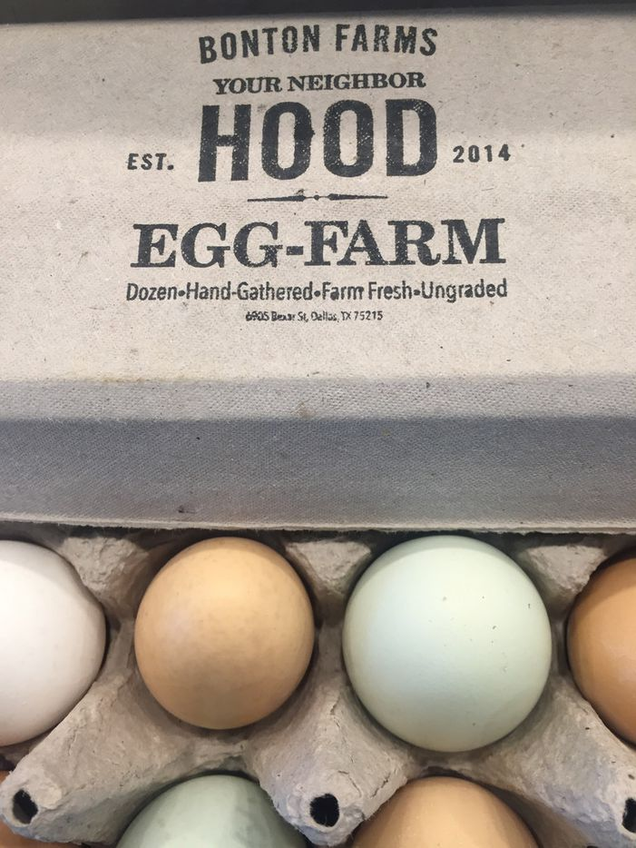 Your NeighborHOOD Eggs at The Market at Bonton Farms in Dallas. (Irwin Thompson/The Dallas Morning News)