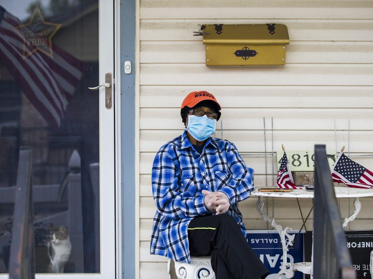"""Anna Hill, 79, sat on the front porch of her longtime home in the Dolphin Heights neighborhood to do an interview Wednesday. """"Right now, I'm reading in Hebrews and I'm reading about faith,"""" she said. """"Because that is what it is going to take for us to get rid of this."""""""