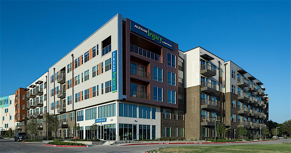 The Alexan Legacy Central apartments were completed in early 2020.