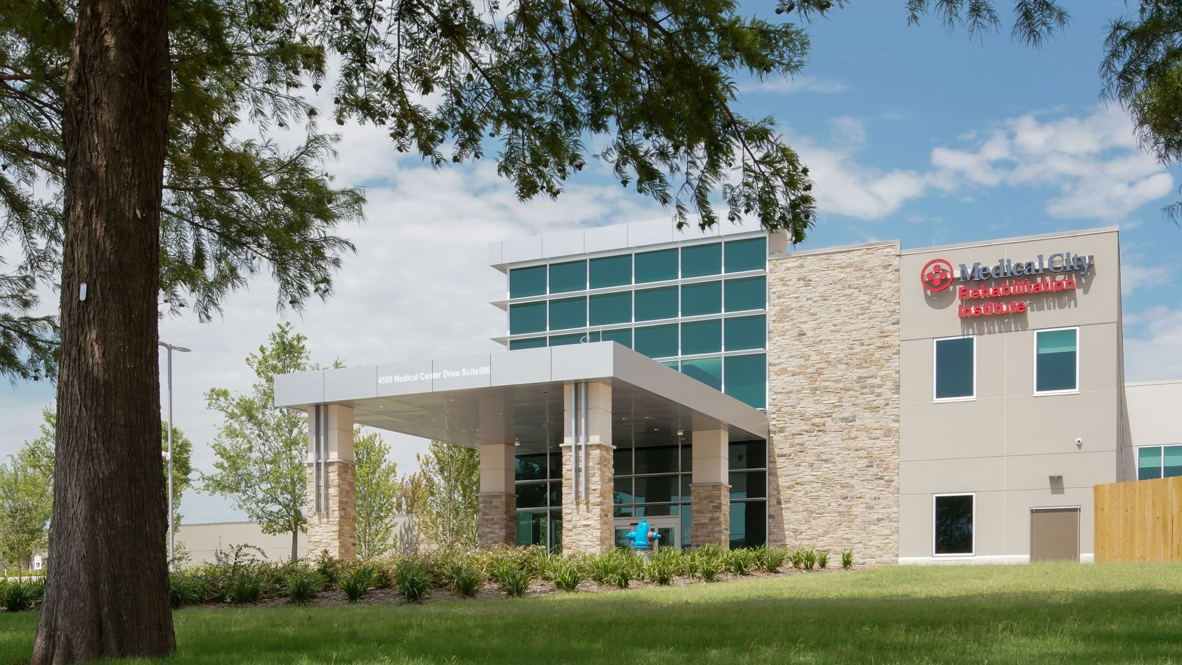 Medical City McKinney's new inpatient rehabilitation pavilion at the Medical City McKinney main campus. The facility is now open after two years of construction.