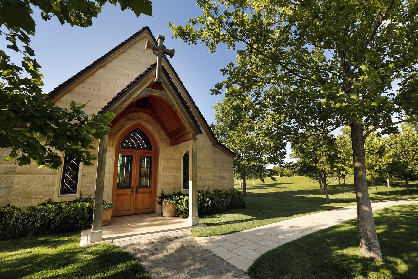 The Chapel on businessman T. Boone Pickens Mesa Vista Ranch.