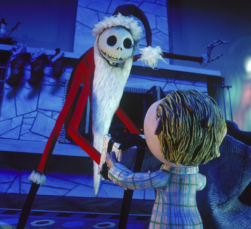 A scene from The Nightmare Before Christmas.