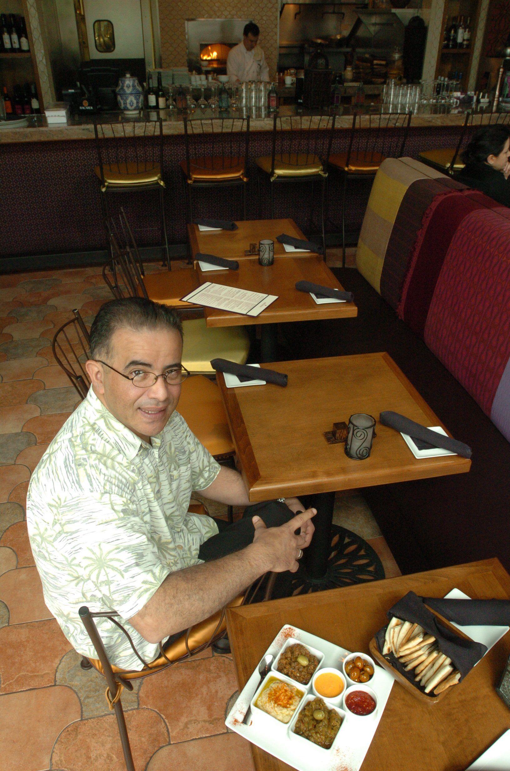 Sam Benoikken in 2009 at his restaurant, Medina Oven & Bar.