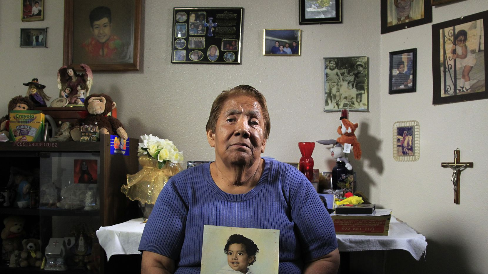 Bessie Rodriguez's 12-year-old son, Santos, was killed in 1973 by a Dallas police officer in an effort to force a confession.