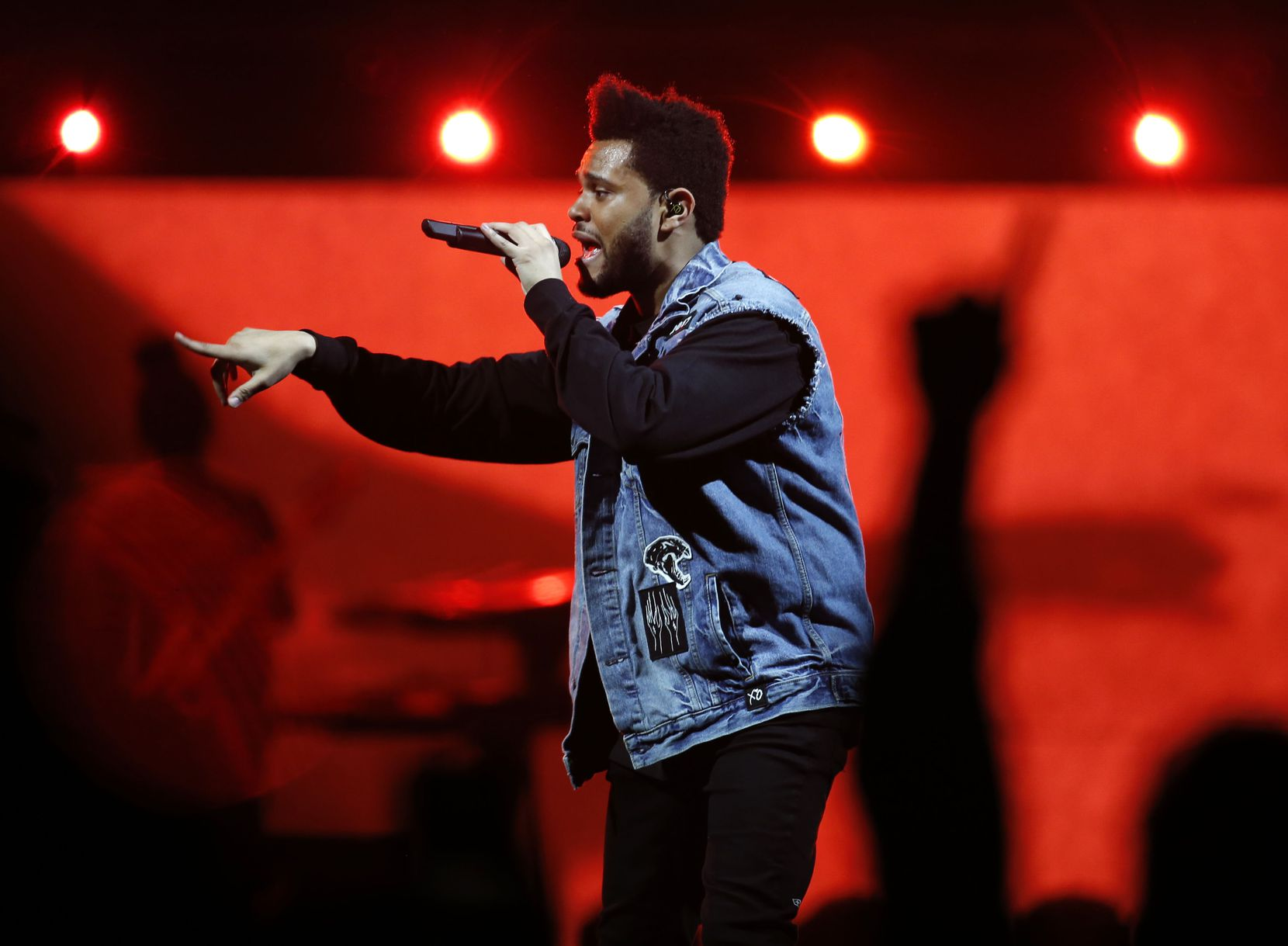 The Weeknd performs at American Airlines Center in Dallas on Thursday, May 4, 2017.
