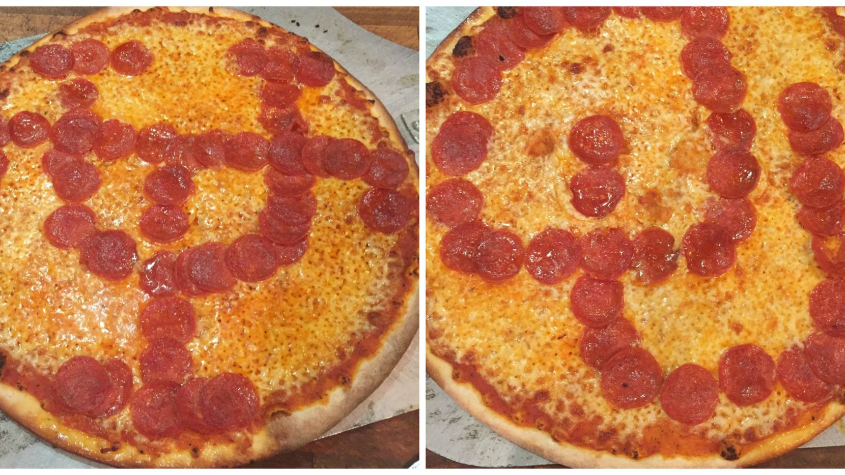 Greenville Avenue Pizza Company is onto something with the pepperoni pizzas spelling team logos. What else can we spell with pepperonis?