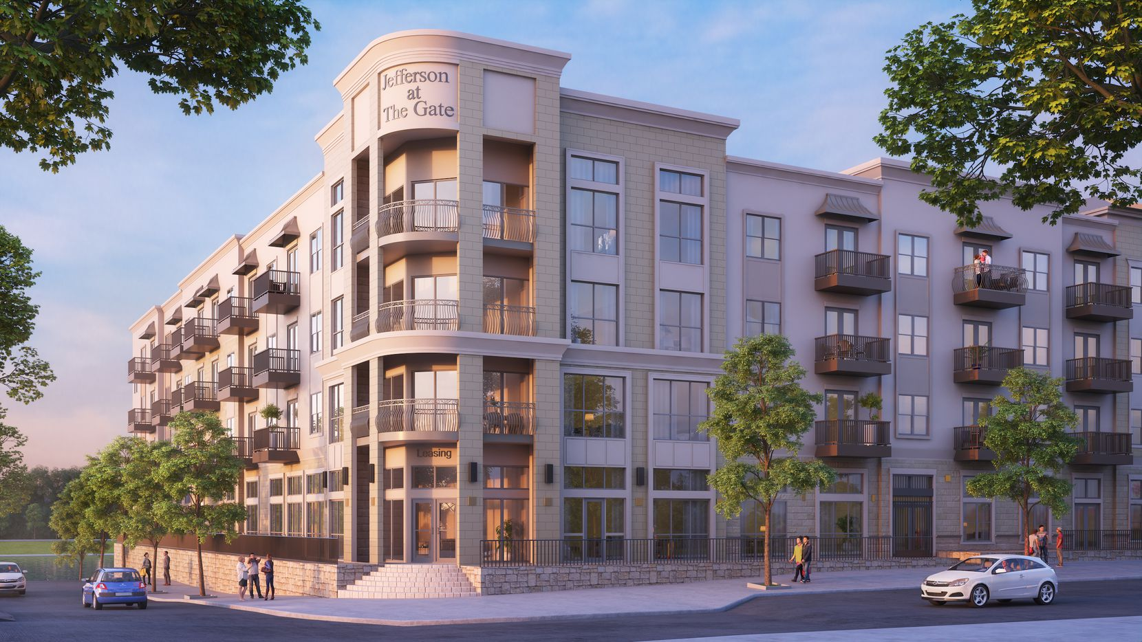 The Jefferson at the Gate apartments are in the $700 million Gate development on the Dallas North Tollway.