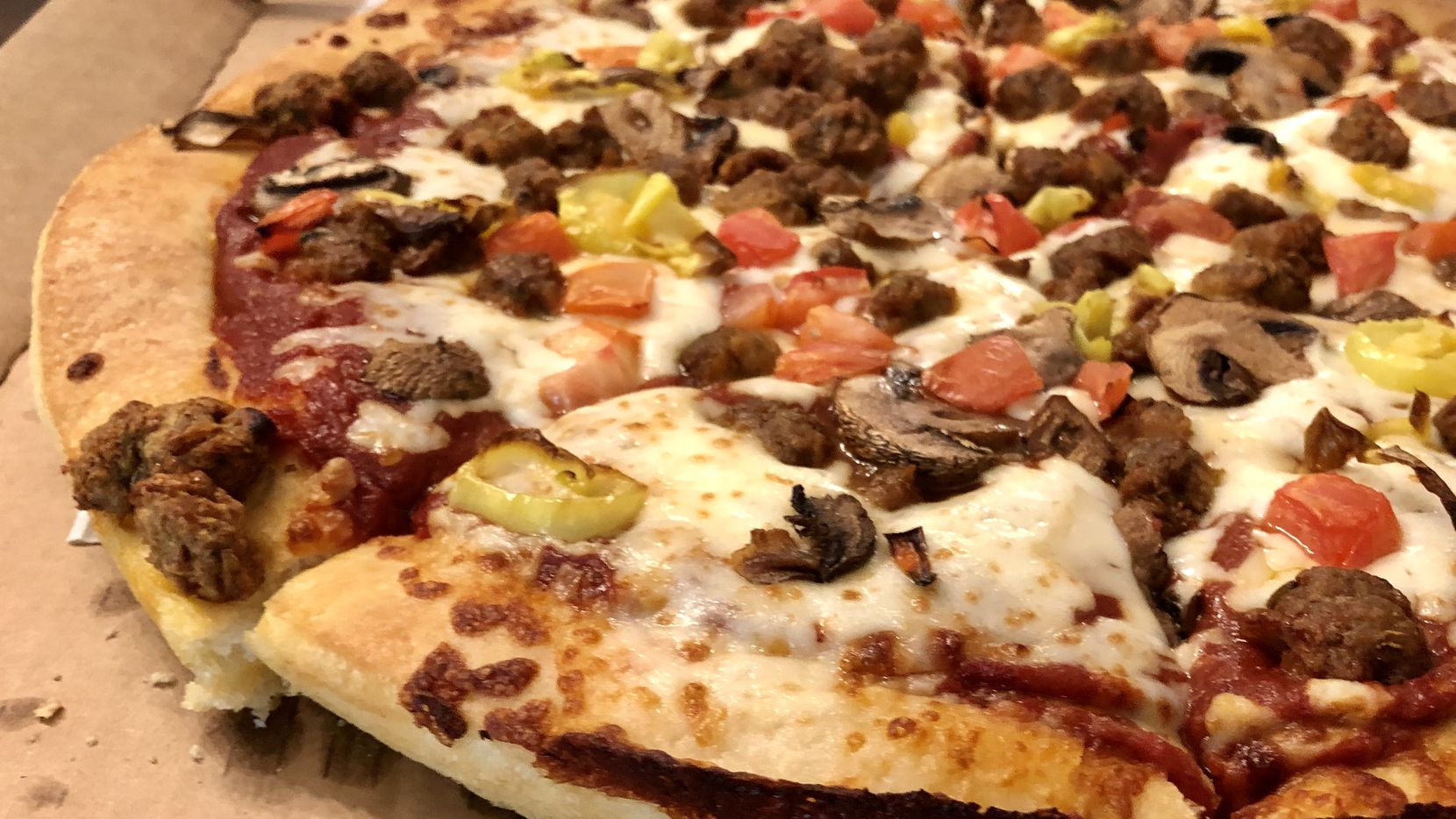 Both of the Beyond Meat pizzas at Pizza Hut come with Beyond Italian Sausage — a plant-based meat substitute.