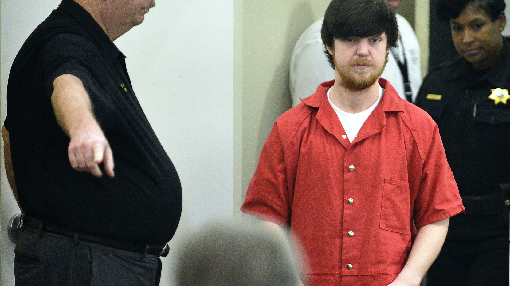 Ethan Couch is brought into Judge Wayne Salvant's court for a hearing at the Tim Curry Justice Center in Fort Worth on April 13, 2016.