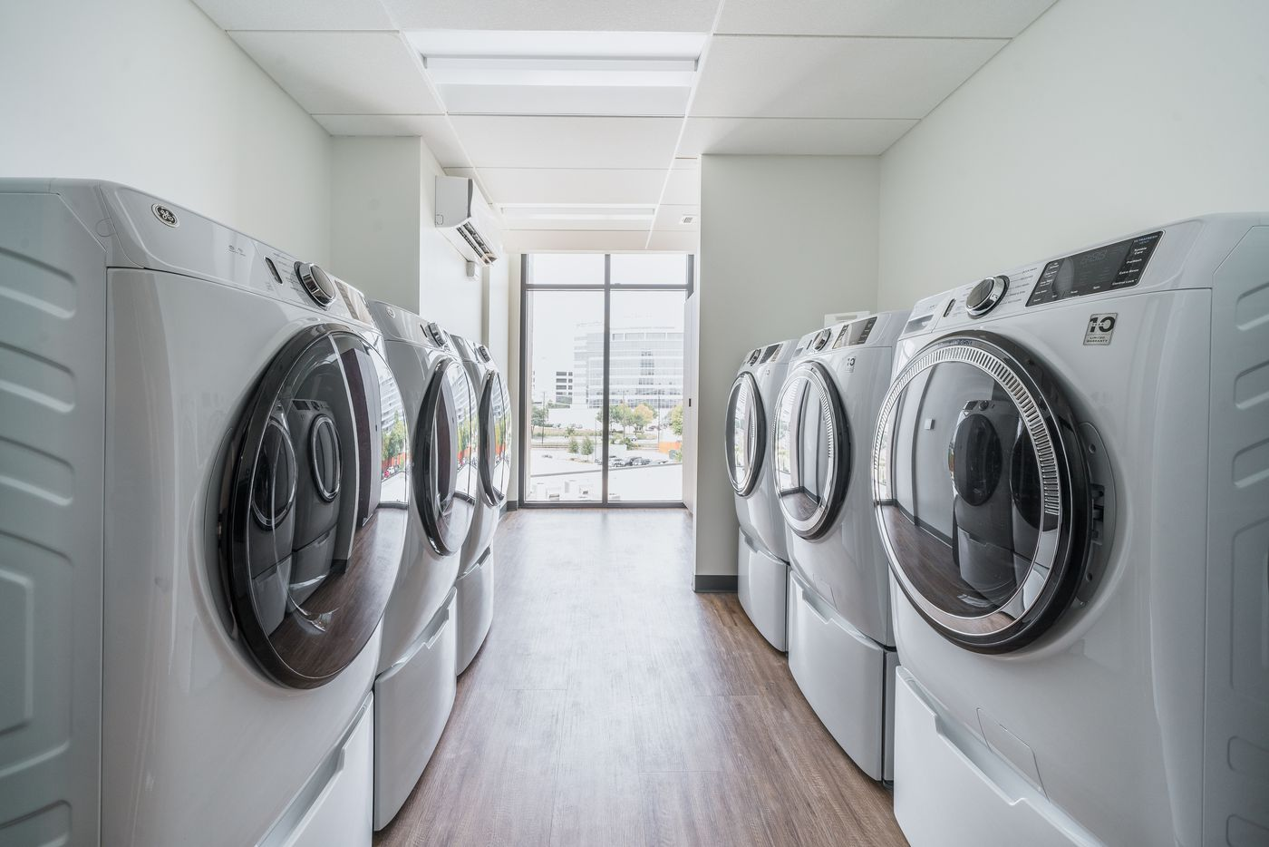 There is a common laundry room on each of the three guest suite floors of the Gene and Jerry Jones Family Hope Lodge in Dallas.