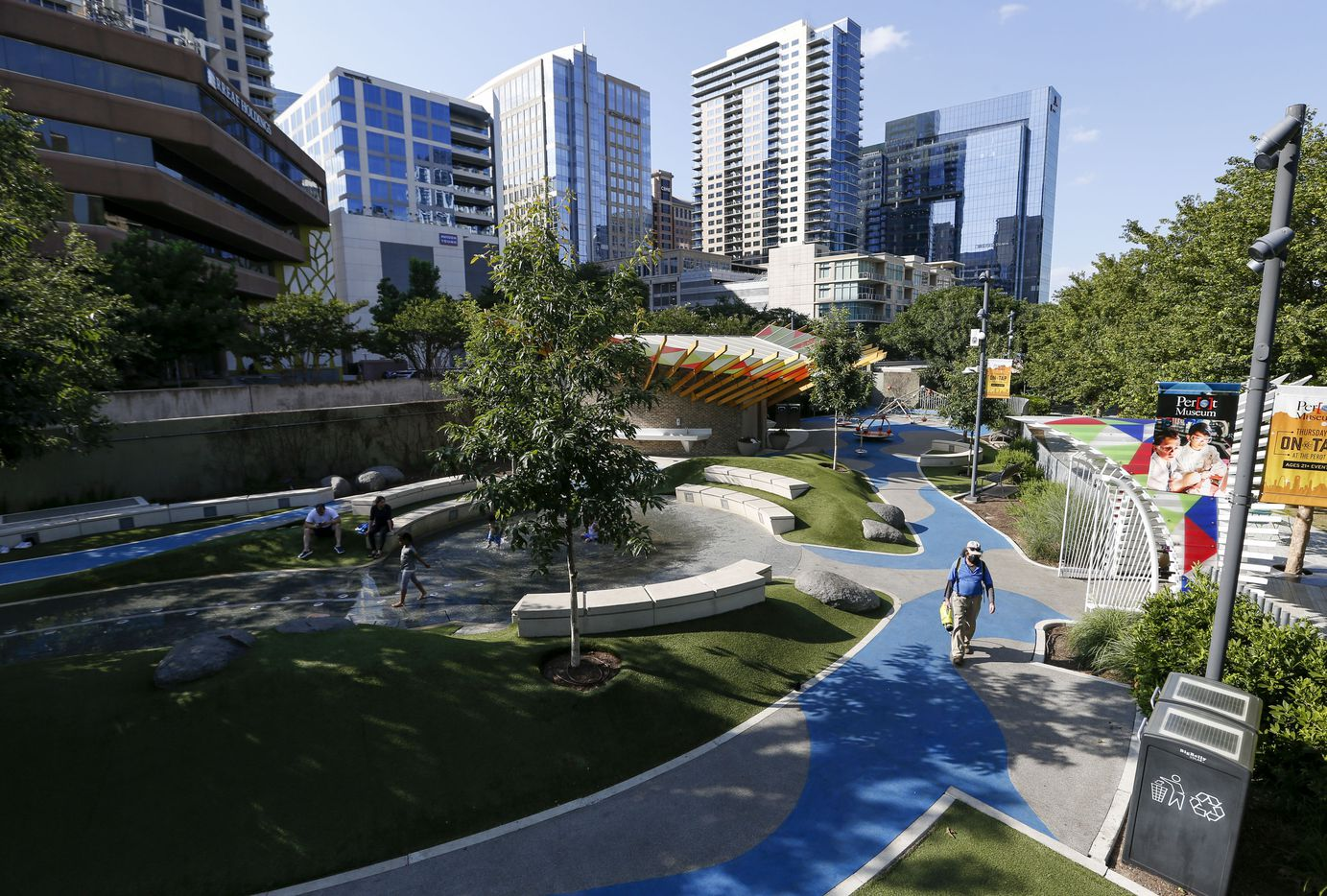 The Children's Park at Klyde Warren Park on Wednesday, June 23, 2021, in Dallas.