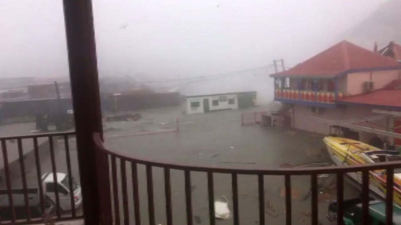 In a video posted by Stefany Santacruz to Facebook, Hurricane Irma hits the Island of St. Martin on Wednesday.