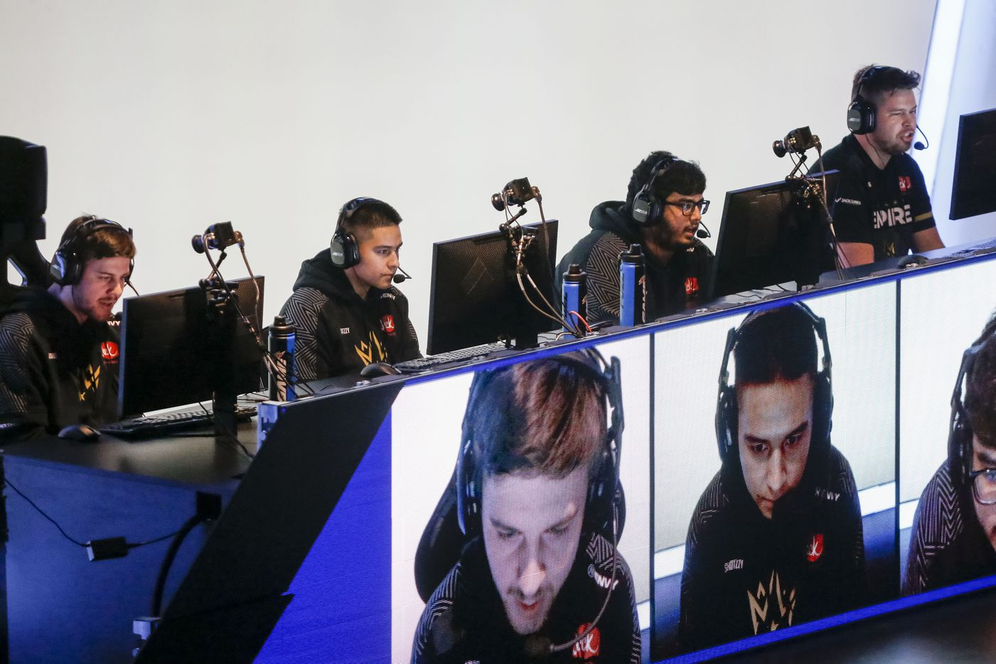 The Dallas Empire compete against the Los Angeles Thieves during the Call of Duty League Major V tournament at Esports Stadium Arlington on Saturday, July 31, 2021, in Arlington. Empire defeated Thieves 3-1 to advance in the tournament. (Elias Valverde II/The Dallas Morning News)