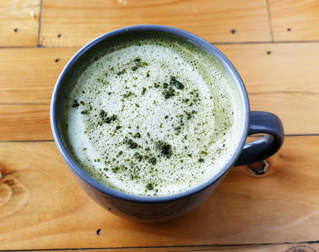 A cup of matcha latte at Toasted Coffee + Kitchen in Dallas on Tuesday, September 26, 2017. (David Woo/The Dallas Morning News)