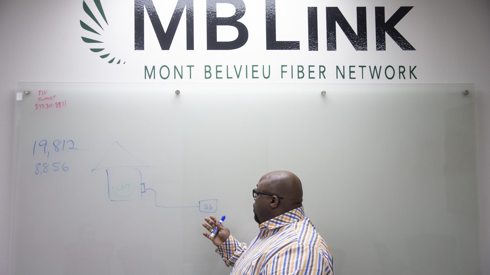 Dwight Thomas, a former IT consultant, is director of Mont Belvieu's broadband and information technology services. In his role, he's become a municipal broadband evangelist. He's spread the word among city residents and met with leaders of other Texas towns.