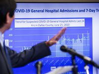El director de salud Philip Huang explica el avance en las hospitalizaciones en el condad de Dallas, sobre todo a partir del 1 de junio.