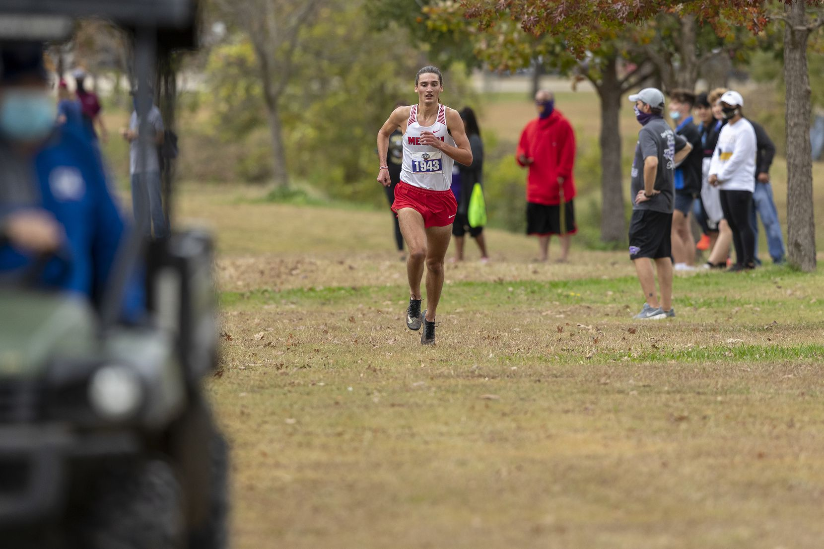 Melissa's Judson Greer (1943) finishes first in the boys UIL Class 4A state cross country meet in Round Rock, Tuesday, Nov., 24, 2020. (Stephen Spillman/Special Contributor)