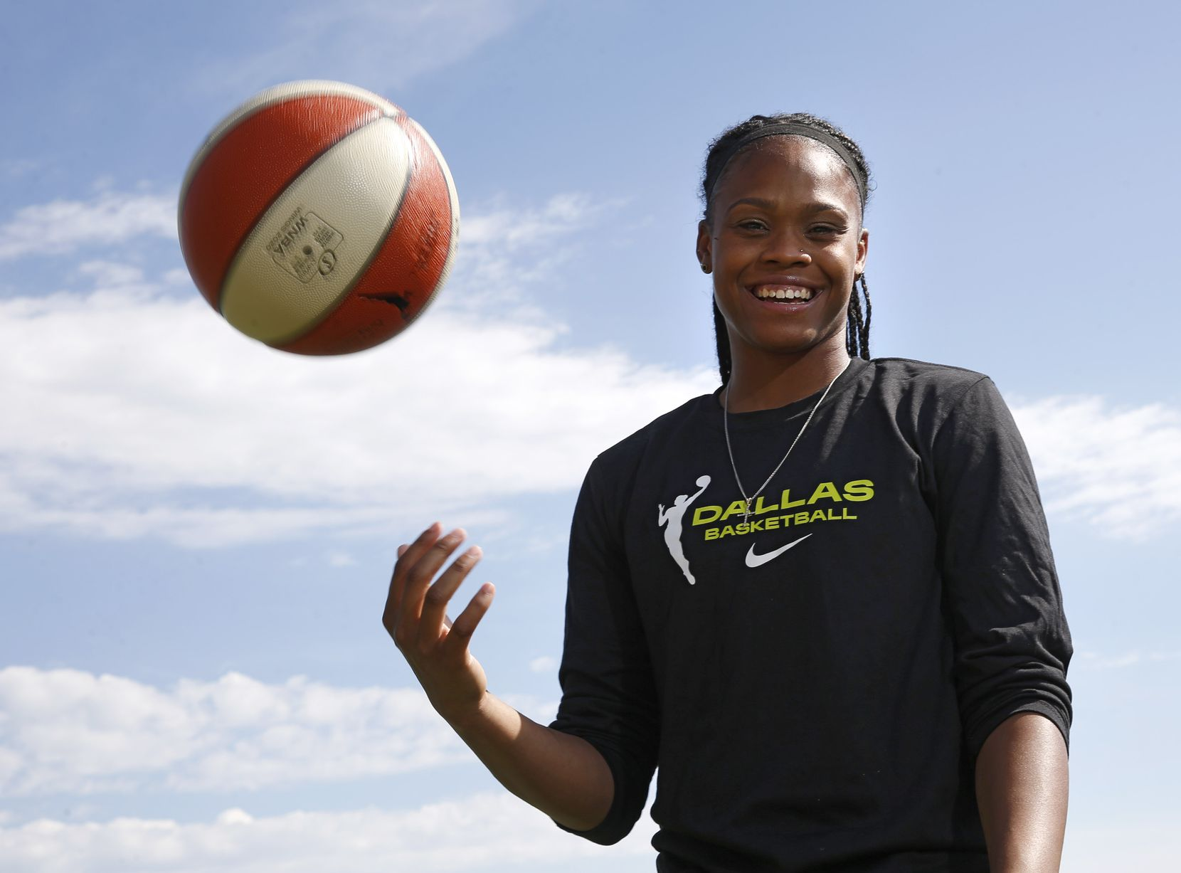 Dallas Wings Moriah Jefferson poses for a portrait near her home in Frisco, on Wednesday, May 27, 2020.