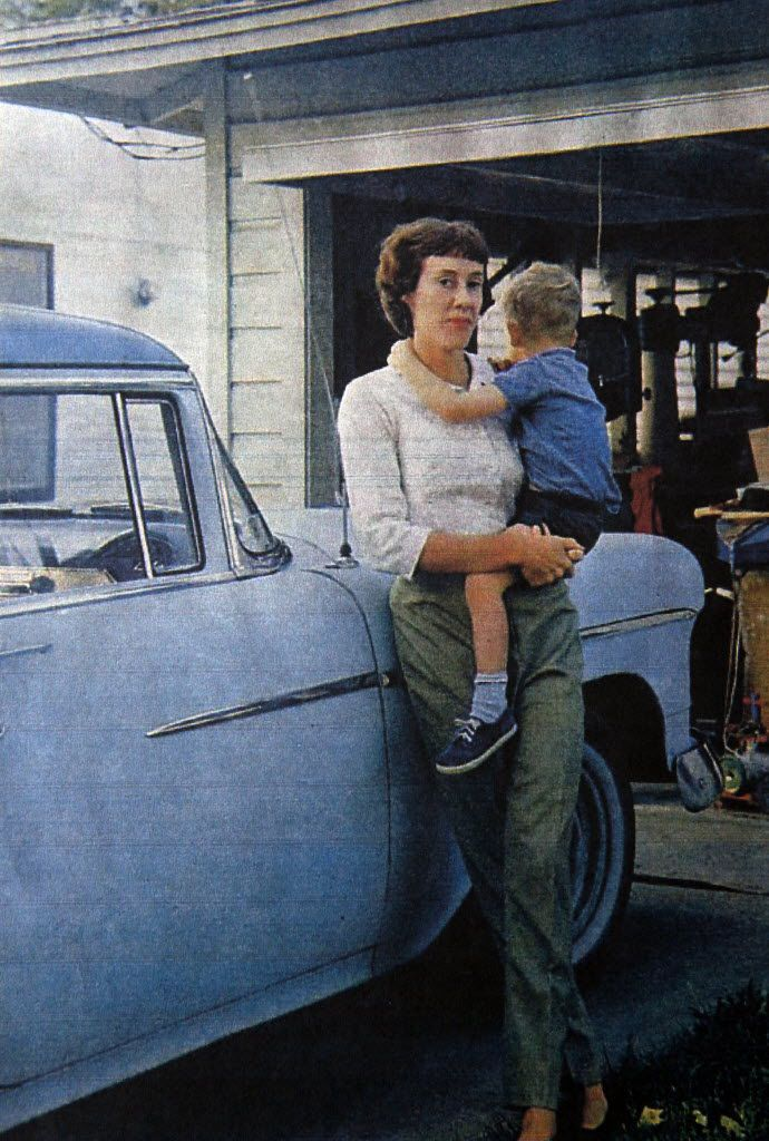 An old magazine photo shows Ruth Paine in front of the house she owned in 1963 and where Lee Harvey Oswald spent the night on Nov. 21, 1963, the day before President John F. Kennedy's assassination. The city of Irving bought the house in 2009 and turned into a museum.