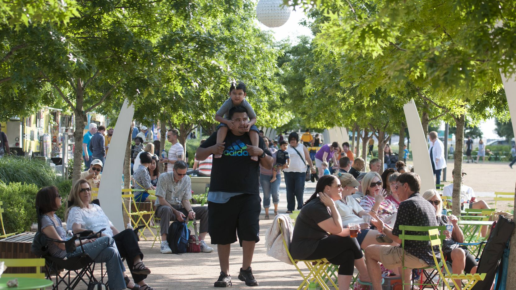 Klyde Warren Park is bound to be busy on Friday, June 18, 2021, with sunny weather and free Sonic drinks.