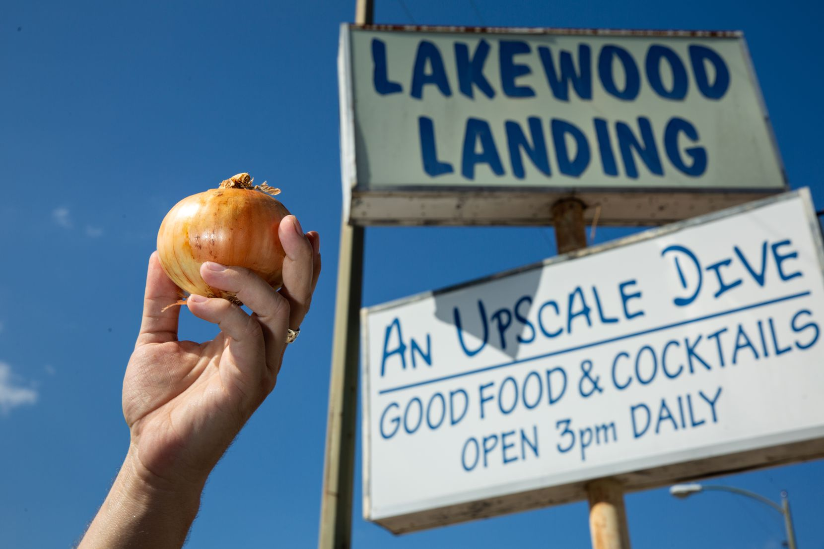 Lakewood Landing in Dallas is serving up Noonday onion rings, which are famously sweet.