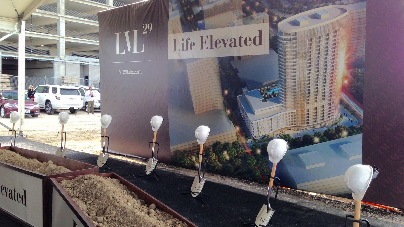 The LVL29 apartment tower in Legacy West will take about two years to finish.