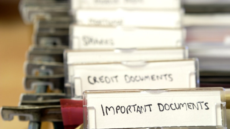 There are certain documents that you should make sure you have together.